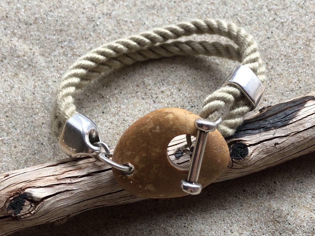 Armband Segeltau-Kieselstein